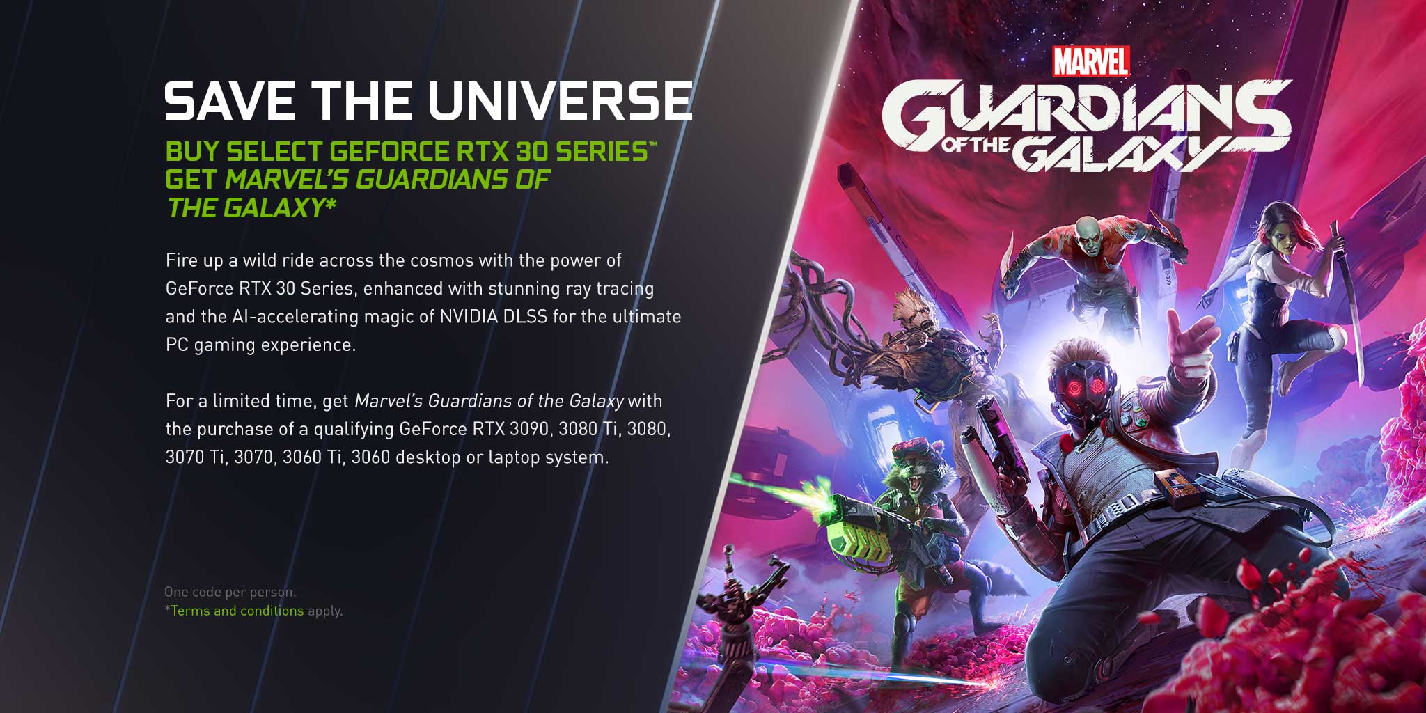 Guardians of the Galaxy promotion header image
